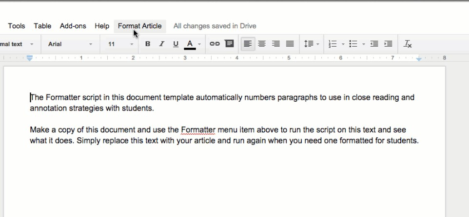 how to make a out line box on google docs