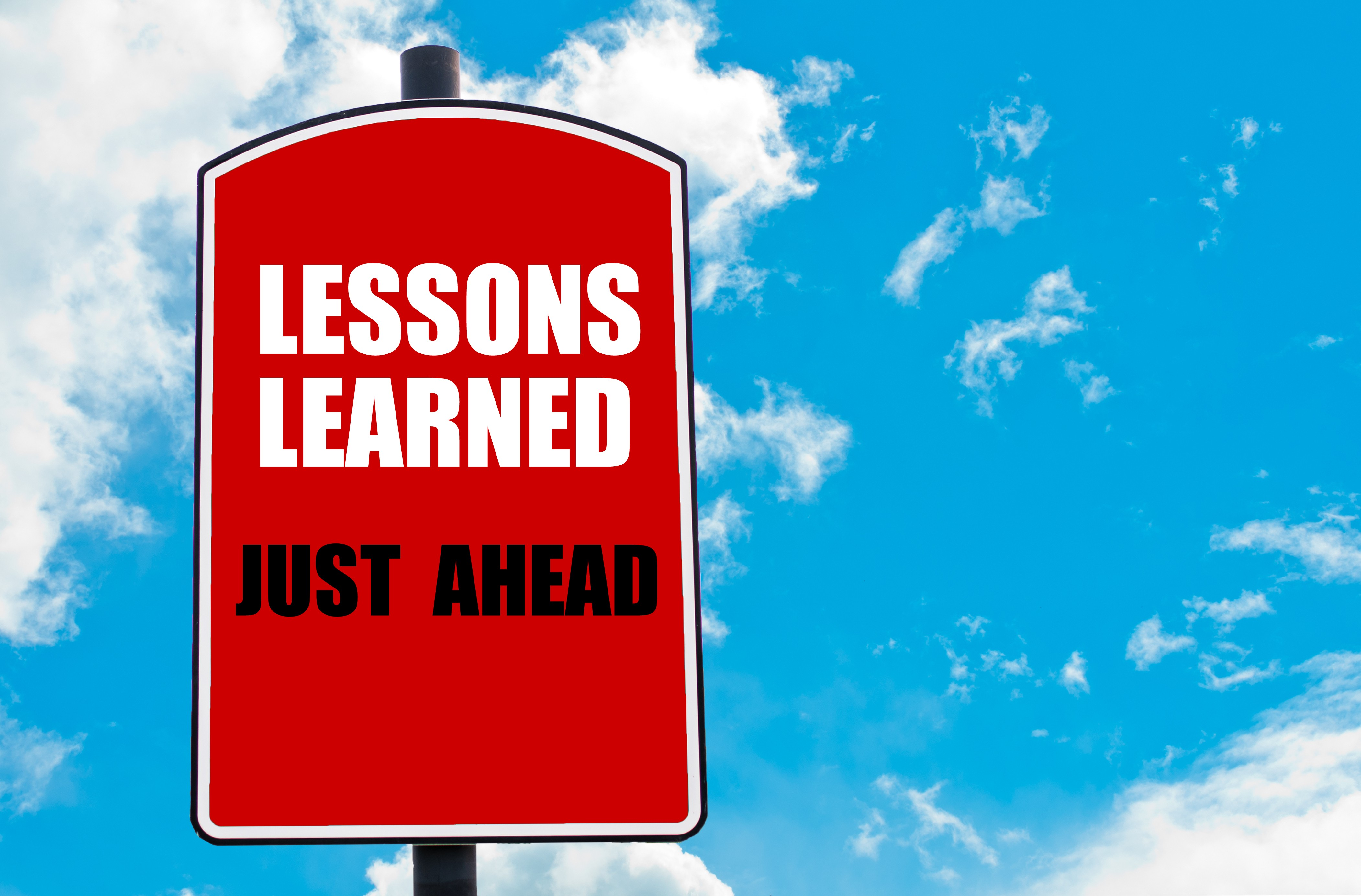 the lessons learned in my career