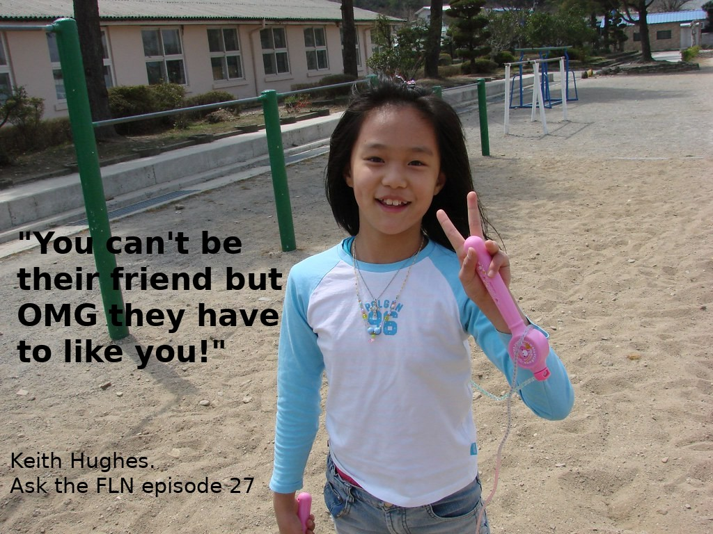 Photo of a Koren Student with Ken's take quote on it from this episode